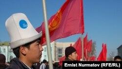 Оппозиция митингинен, Ош, 1-март, 2012.
