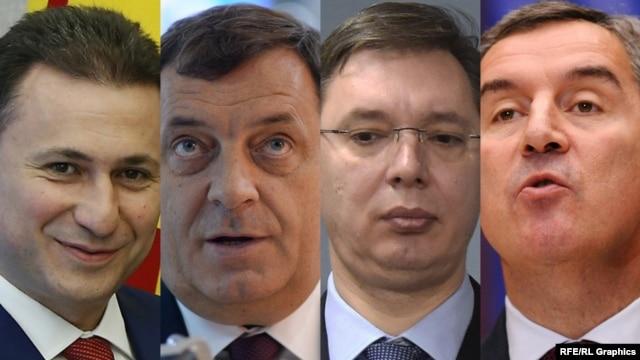 Nikola Gruevski, Milorad Dodik, Aleksandar Vučić i Milo Đukanović