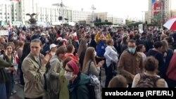 همایش معترضین در بلاروس