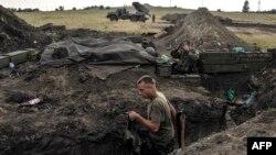 Луганск облысындағы Украина әскерінің шебі. (Көрнекі сурет)