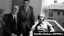 M.Ə.Rəsulzadə ikinci həyat yoldaşı Vanda ilə - 1950-ci illər