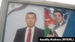 Election posters in Baku