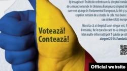 Poster electoral al Fundației Soros pentru o Societate Deschisă