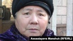 Пенсионерка Шолпан Антаева. Алматы, 28 ноября 2013 года.