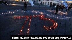Акція до річниці депортації кримських татар «Запали вогонь у своєму серці». Київ, 18 травня 2017 року