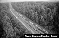 Учасники акції «Балтійський шлях», Латвія, 1989 рік