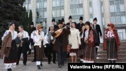Проевропейский митинг в Кишиневе. 3 ноября 2013 года.