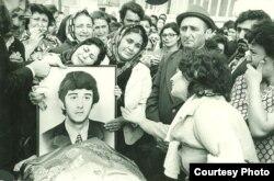 Oğlu Ariflə vida günü. 1976-cı il.
