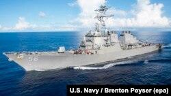 Эсьмінец USS John S. McCain ВМФ ЗША, ілюстрацыйнае фота