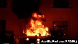 Поджог машины. Исмаиллы, 24 января 2013 года.