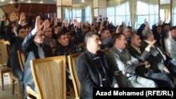 Iraq - Elections at the Journalists Union in Kurdistan, Sulaymaniya, 28Dec2011