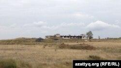 Калачи ауылы маңындағы бұрынғы уран кеніші орны. Ақмола облысы, 7 қыркүйек 2014 жыл.