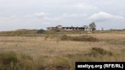 Калачи ауылы маңындағы бұрынғы уран кен орны. Ақмола облысы, 7 қыркүйек 2014 жыл.