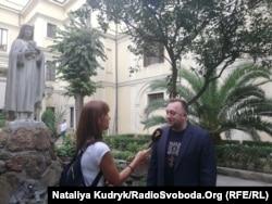Юстин Бойко під час інтерв'ю для Радіо Свобода