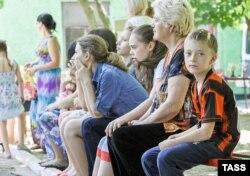 Беженцы из восточных областей Украины в Ростове-на-Дону