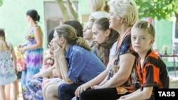 Беженцы из Украины в российском городе Ростов-на-Дону. 4 июня 2014 года.