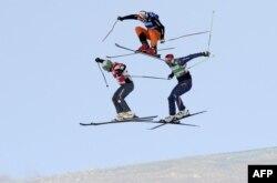 Francë: Brady Leman (Kanada), Andreas Matt (Austri) dhe Daniel Bohnacker (Gjermani) në Val Thorens.