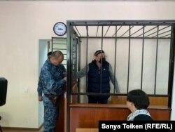 Обвиняемый в участии в деятельности ДВК Серик Жахин. Нур-Султан, 16 сентября 2019 года.