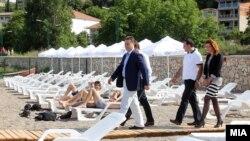 Премиерот Никола Груевски во посета на Дојран на 17 мај 2013.