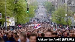 Sa protesta 'Jedan od pet miliona' u Beogradu (6. april 2019.)