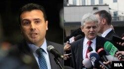 Заедничка фотографија на лидерите на СДСМ, Зоран Заев и на ДУИ Али Ахмети.