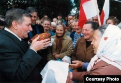 Беларусы вітаюць польскага прэзыдэнта