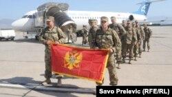 Подразделение армии Черногории вернулось из миссии в Афганистане. Подгорица, 27 сентября 2012 года.