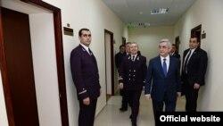 Президент Армении Серж Саргсян в новом здании ССС, 21 октября 2014 г․
