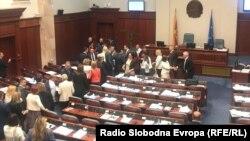 В парламенте Македонии.