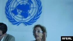 Posebna UN-ova izvjestiteljica za stanovanje Raquel Rolnik u Zagrebu, 13. srpanj 2010. Foto: Enis Zebić