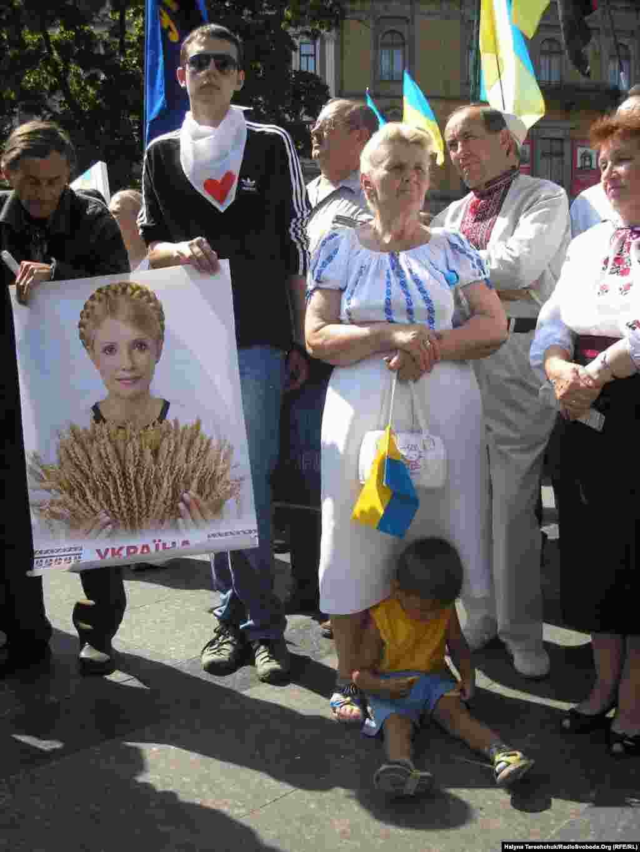 Мітинг проти політичних репресій.