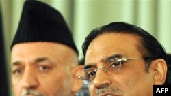 Karzai and Zardari in Islamabad in September