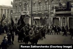 Томськ, Першотравнева хода, 1 травня (18 квітня) 1917 року