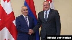 Վրաստանի նախագահ Գիորգի Մարգվելաշվիլիի և Հայաստանի Ազգային ժողովի նախագահ Գալուստ Սահակյանի հանդիպումը Թբիլիսիում, 7-ը հոկտեմբերի, 2014թ․