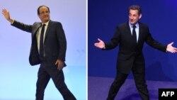 Francois Hollande şi Nicolas Sarkozy