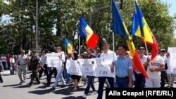 Protest la Chisinau împotriva schimbării sistemului electoral