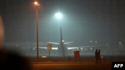 Стамбул әуежайына келіп қонған Airbus A320 ұшағы. 7 ақпан 2014 жыл.