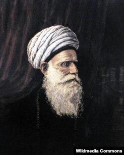 «Şeyxülislamın portreti». Əli bəyin babasının şəkli. Hüseynzadənin özü çəkib.