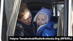 Вимушені переселенці з Донбасу, Львів, 16 лютого 2015 року