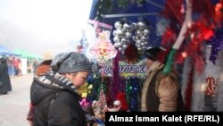 Новогодние улицы Бишкека