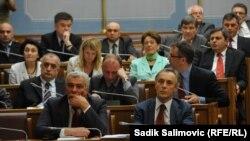 Пратениците од парламентот на Црна Гора.