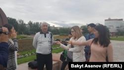 Расул Умбеталиев Жеңиш аянтында