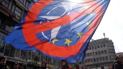 Protest protiv NATO-a u Beogradu, 2016