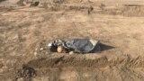 Qırımnıñ İslâm Terek rayonında yoq olğan Ungut köyündeki eski musulman mezarlığında qalıntı