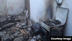 Один из сожженных домов в чеченском селе Янди, принадлежащий, предположительно, боевикам, причастным к событиям в Грозном 4 декабря