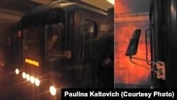 Паўліна Калтовіч кажа, што наступны цягнік сутыкнуўся з тым, у якім ехала яна: «Уяго моцна пакрыўленыя люстэркі»