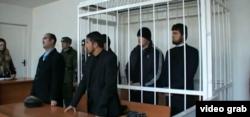 Суд над гражданами Таджикистана, принимавшими участие в боевых действиях в Сирии. Душанбе, декабрь 2013 года.