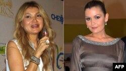Гульнара Каримова (слева), дочь президента Узбекистана и ее младшая сестра Лола Каримова-Тилляева (справа).