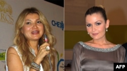 This combination photo shows Gulnara (left) with her younger sister, Lola Karimova-Tillyaeva.