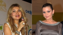 This combination photo shows Gulnara (left) with her younger sister, Lola Karimova-Tillyaeva.